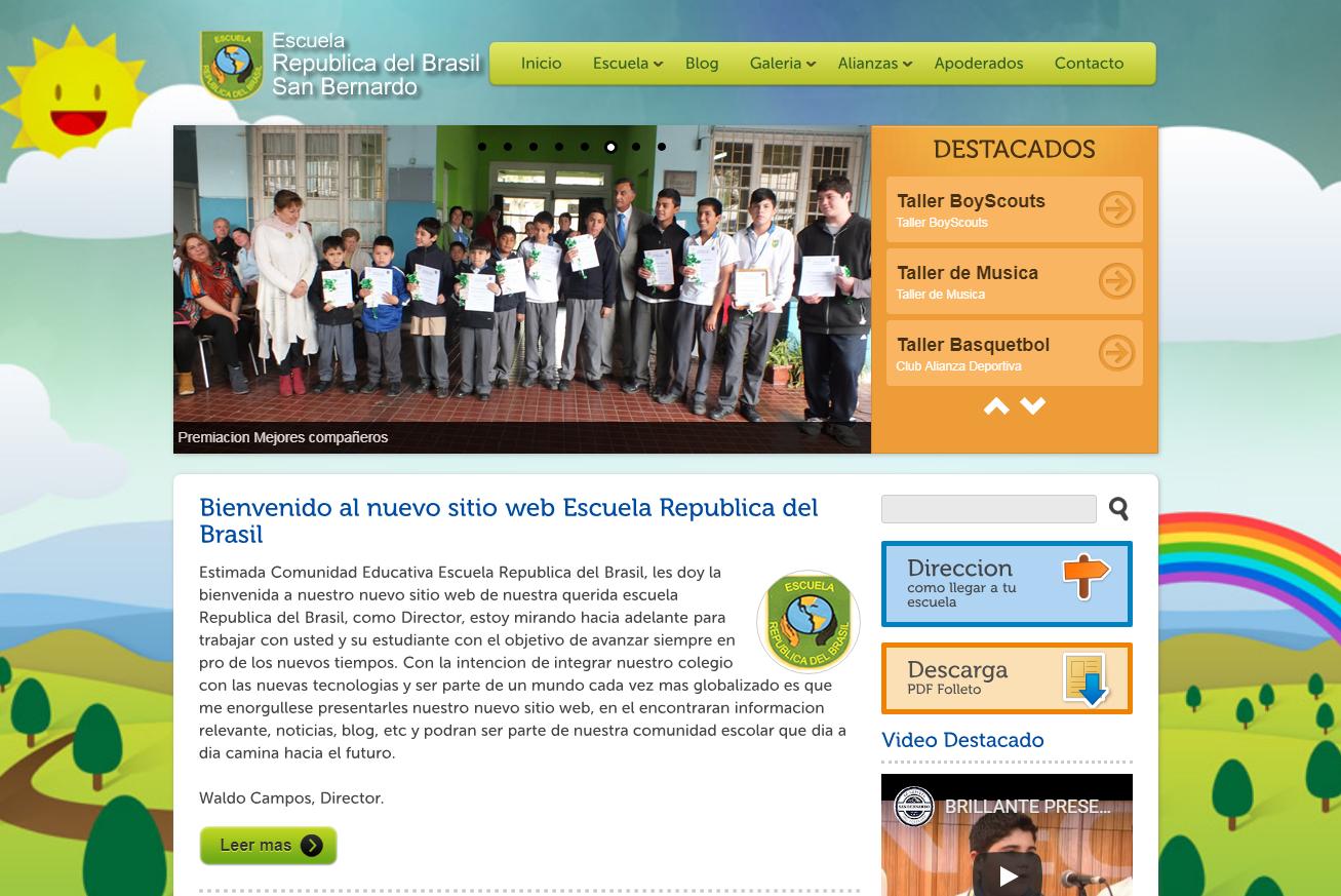 """Sitio web de la """"Escuela República del Brasil"""""""